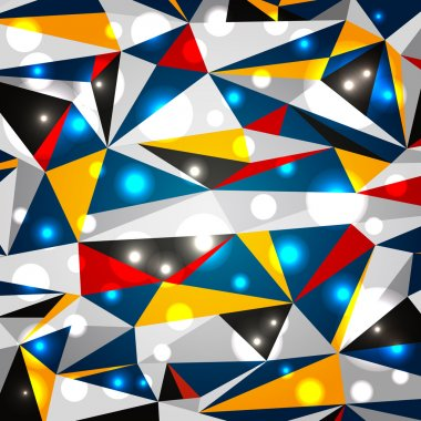 Modern geometric background with glowing elements clip art vector