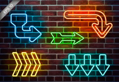 urban neon arrows