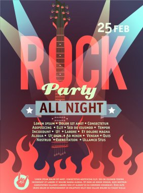 rock party vector