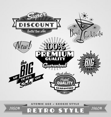 Vintage and retro labels , logo
