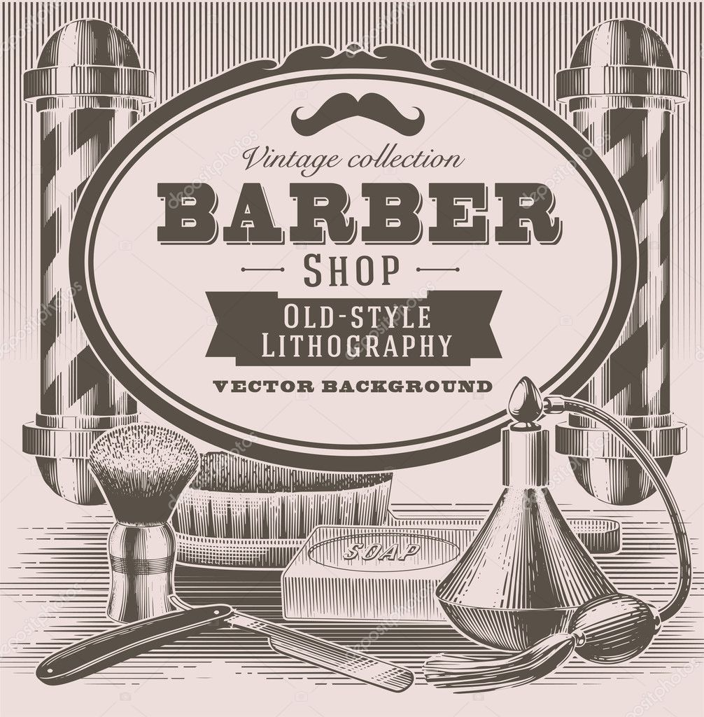 Vintage Barber Objects Stock Vector 169 Darumo 20116515