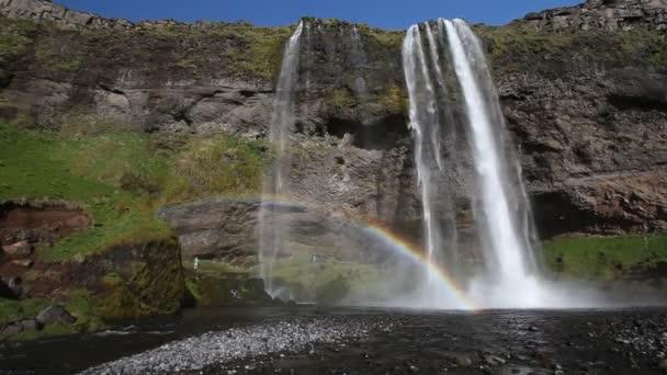Duha nad vodopád seljalandsfoss, Island
