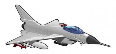 Vector illustration of  fighter jet. Simple gradients only - no gradient mesh. stock vector