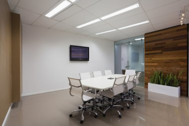 Board room with plasma screen