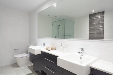 Modern twin bathroom