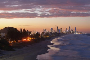 Gold Coast at sunset