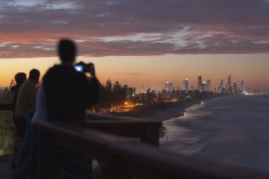 Gold Coast sunset from lookout