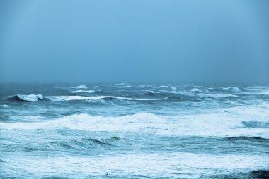 """Картина, постер, плакат, фотообои """"бурный океан"""", артикул 22932730"""