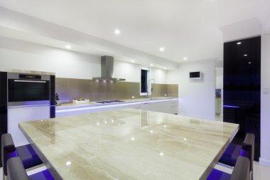 Modern LED lit kitchen