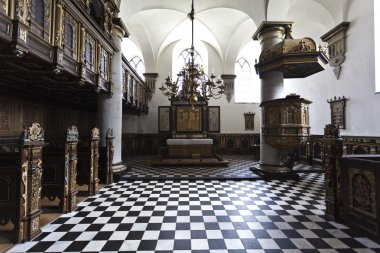 Interior of church in Kronborg Slot in Helsingor - Denmark