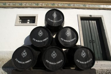 Barrels of Jose Maria da Fonseca vinhos winery in Azeitão - Portugal