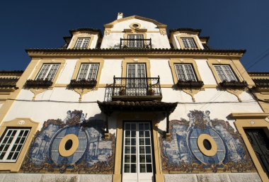Facade of Jose Maria da Fonseca vinhos winery in Azeitão - Portugal