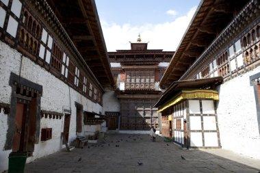 Interior of Trongsa Dzong monastery in Central Bhutan - Asia