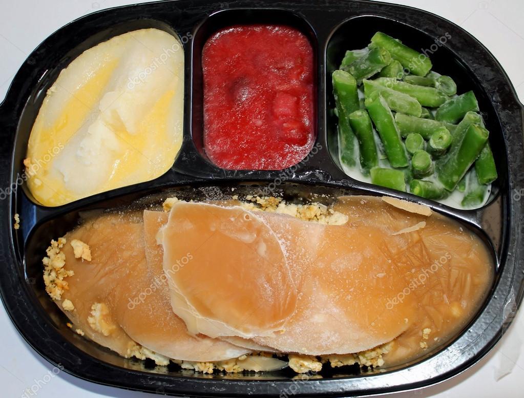 Frozen Turkey Dinner — Stock Photo