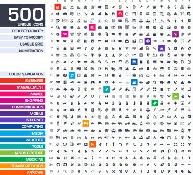 500 icons set.