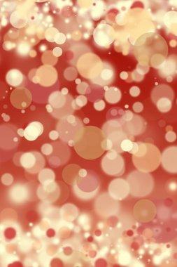 Red defocused christmas lights background