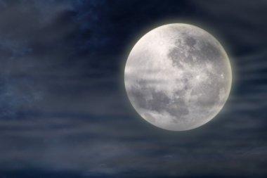 Dark night with full moon