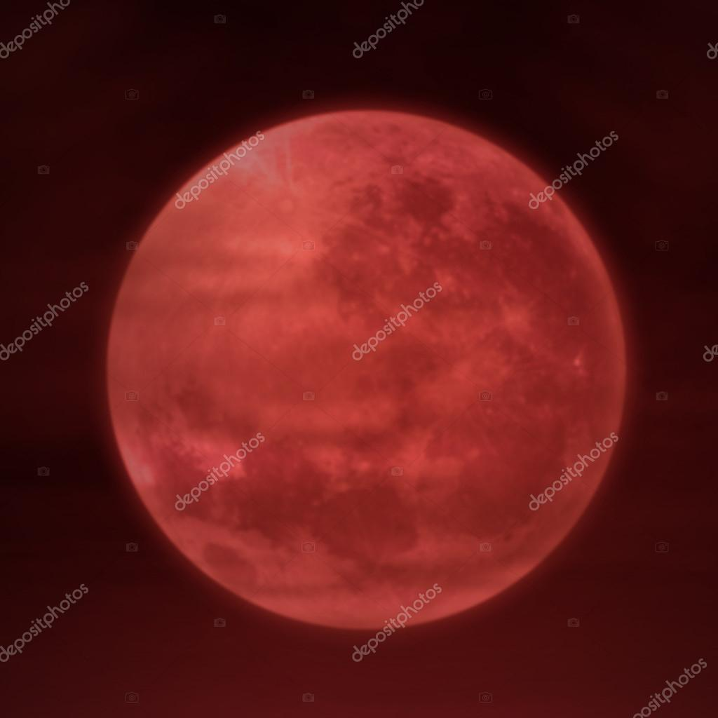 Full moon on red background