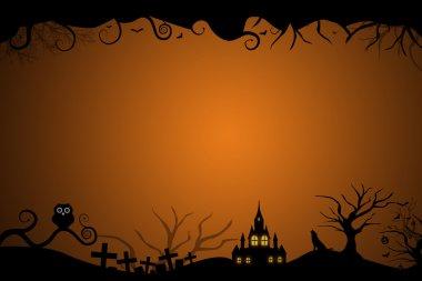 Halloween border for invitation card