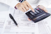 Fotografie počítání obchodní daně