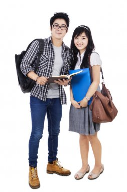 Couple Students - Isolated