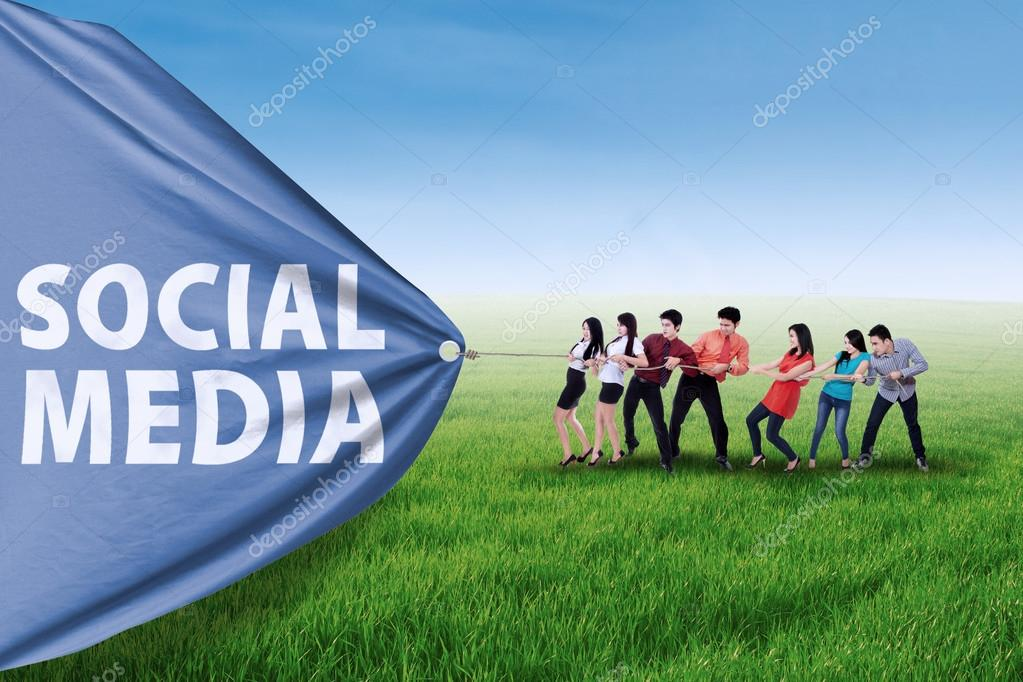 Business promotion with social media banner