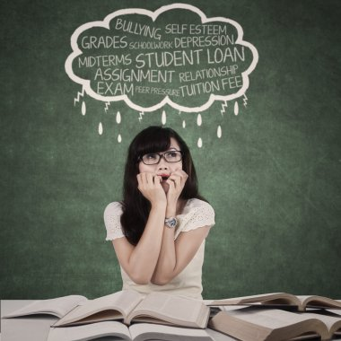 Worried student with problems 1