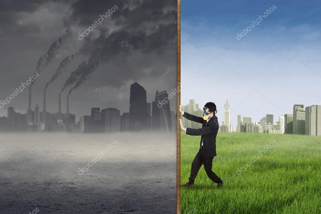 Businessman change the environment 1
