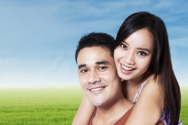 Cheerful couple in nature 1