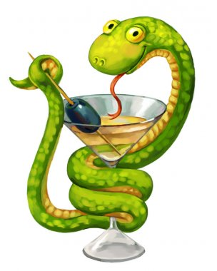 Snake on cup