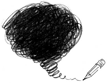 Pencil drawing. Vector illustration