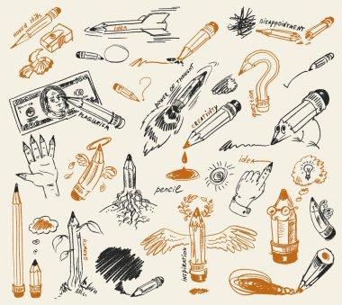 Pencil drawing. Hand-drawn