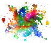 Abstraktní malba olej