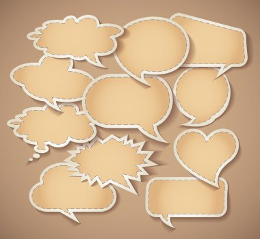 Speech bubbles Cardboard