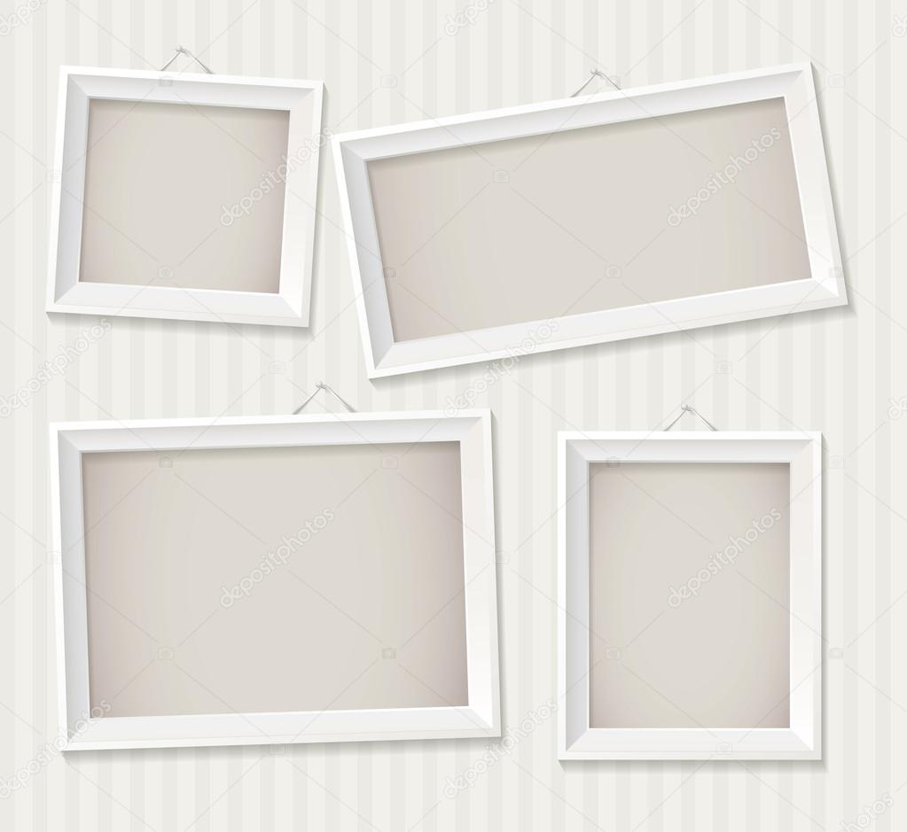 white empty frame hanging on the wall stock vector 17051369 - Empty Frame