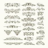 Fotografie Vector set of calligraphic design elements