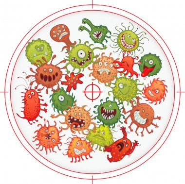 Germs and bacteria at gunpoint