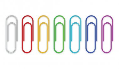 Paper clips set. Vector illustration stock vector