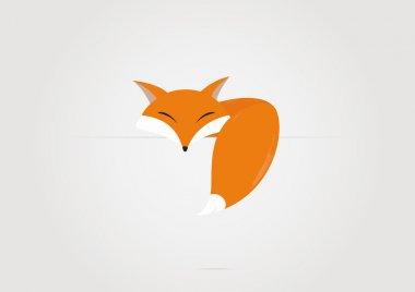 Cartoon fox. Vector illustration stock vector