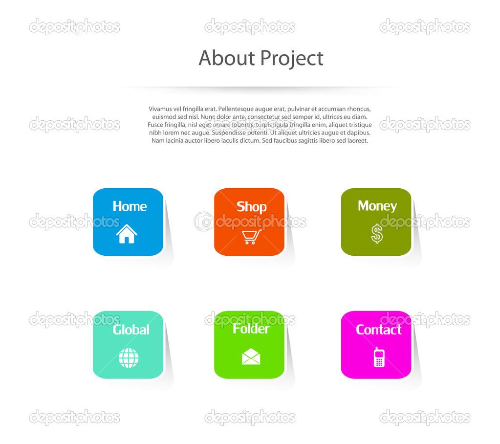 Website template design menu navigation elements stock vector website template design menu navigation elements stock vector ccuart Image collections