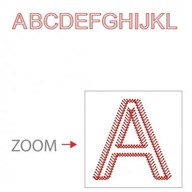 Alphabet baseball style, Vector illustration, easy all editable