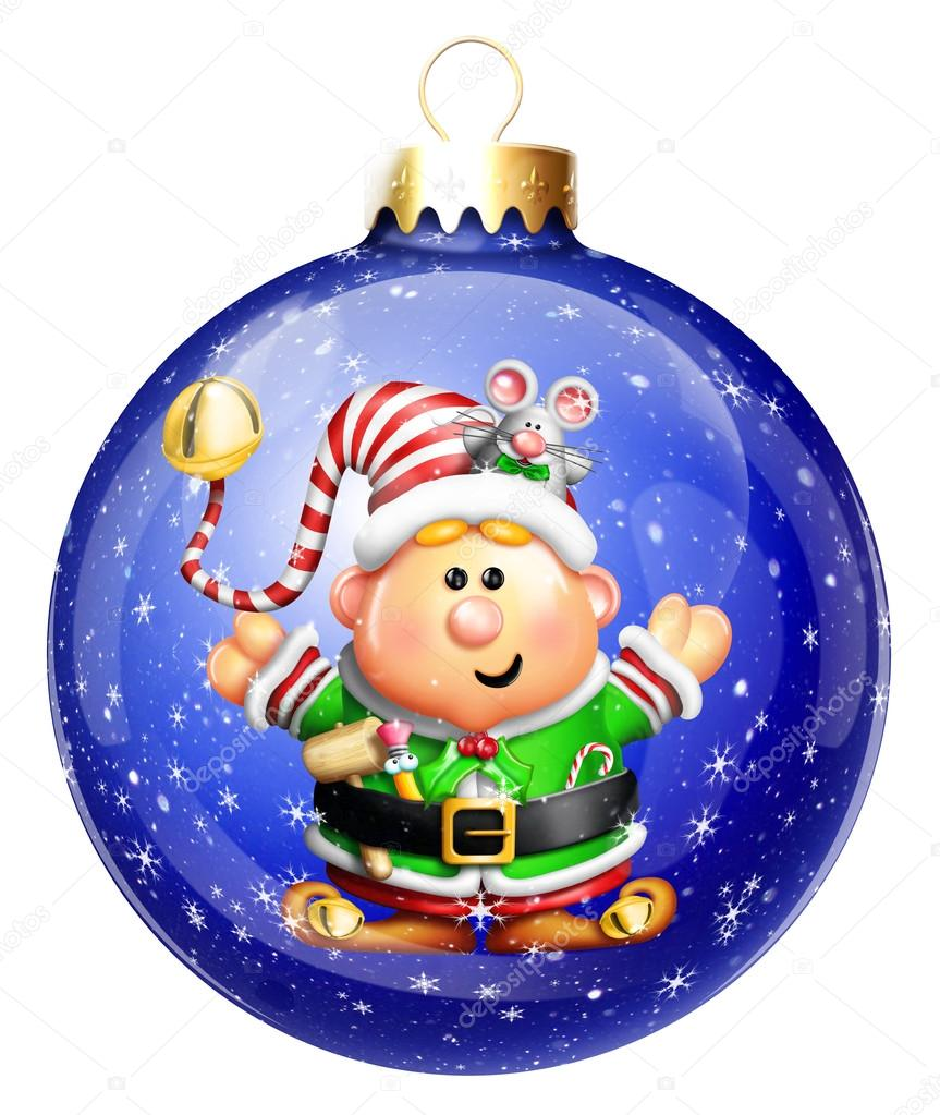 Bola de navidad elf caprichosos dibujos animados foto de for Dibujo bola navidad