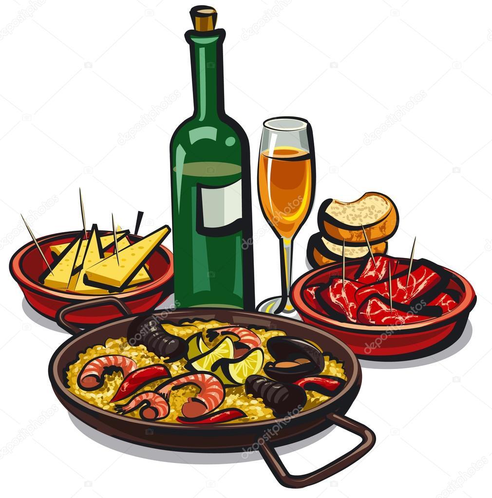 cocina española — Archivo Imágenes Vectoriales © olegtoka1967 #24272767