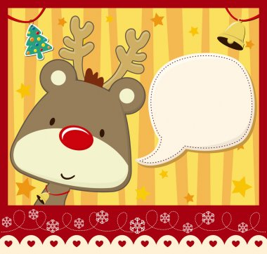 Childish christmas card background