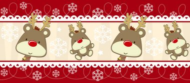 Cute christmas banner decoration