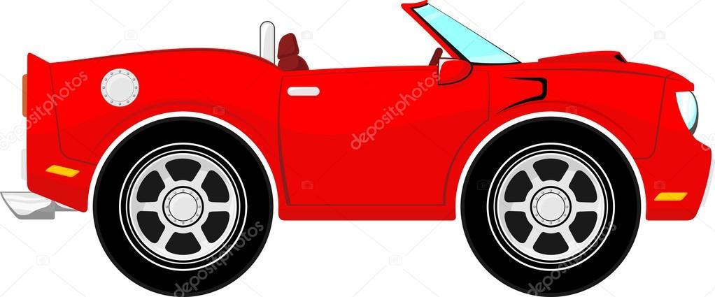 Animado Carro Sin Dibujos Animados Graciosos Auto Convertible