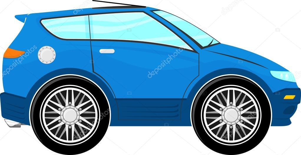 Dibujos Autos De Animados Dibujos Animados Graciosos Auto Azul