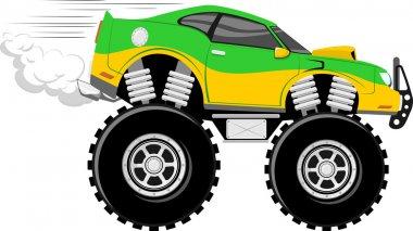 Monstertruck race car 4x4 cartoon