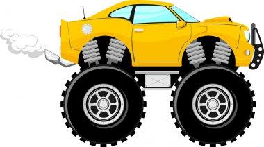 Monstertruck sport car 4x4 cartoon