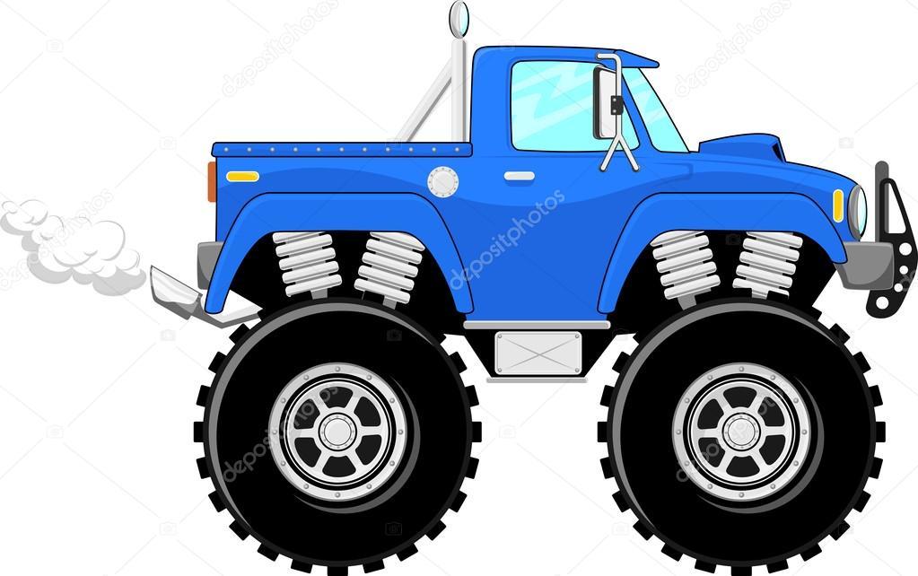 Illustrazione di monster truck cartone animato di monster truck